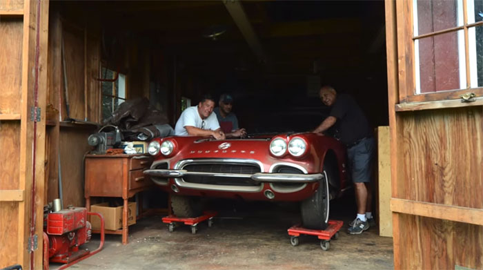 VIDEO 1962 Corvette Fuelie Barn Find Has Been Sleeping For 50 Years