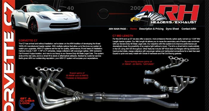 American Racing Headers for C7 Corvette Available at Southern Car Parts