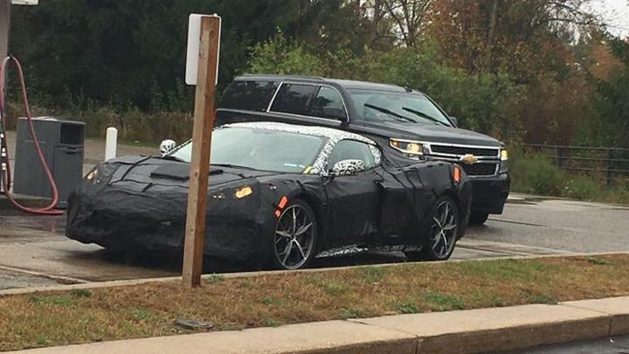 [SPIED] Camouflaged Mid Engine C8 Corvette Spotted in Public for First Time