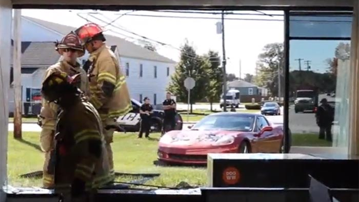 [ACCIDENT] Sleepy C6 Corvette Driver Makes News After Crashing into a Newspaper's Office Building
