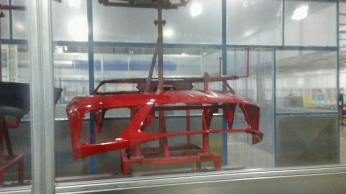 Leaked front bumper at the Bowling Green Assembly Plant