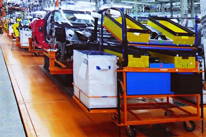New Skillet Line at Corvette Factory Brings Benefits to the Assembly Process
