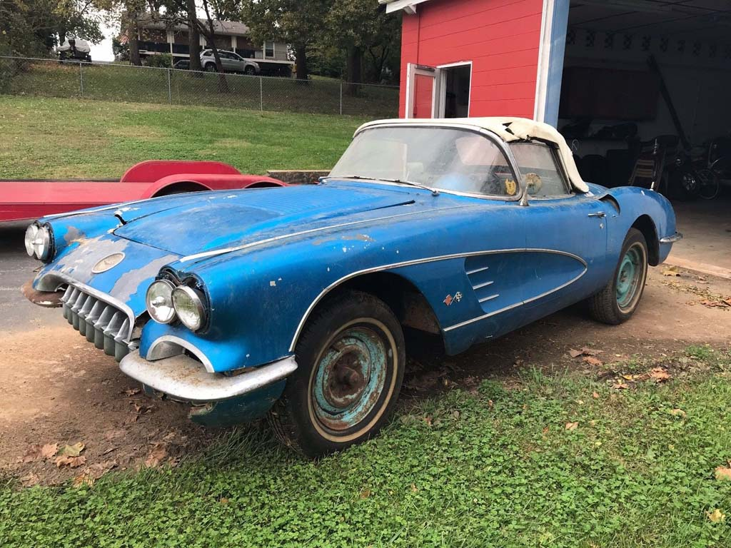 Corvettes on eBay: Barn Find 1958 Corvette With VIN 020 - Corvette ...