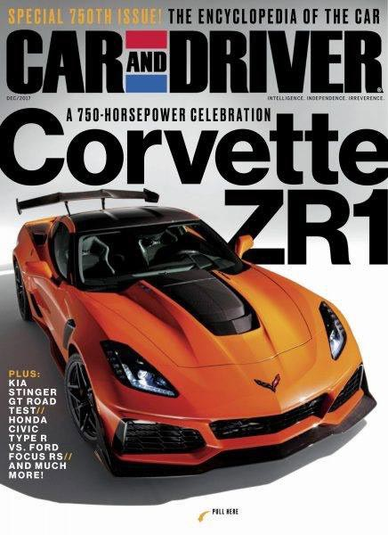 The 750-hp Corvette ZR1 Makes the Cover of Car and Driver