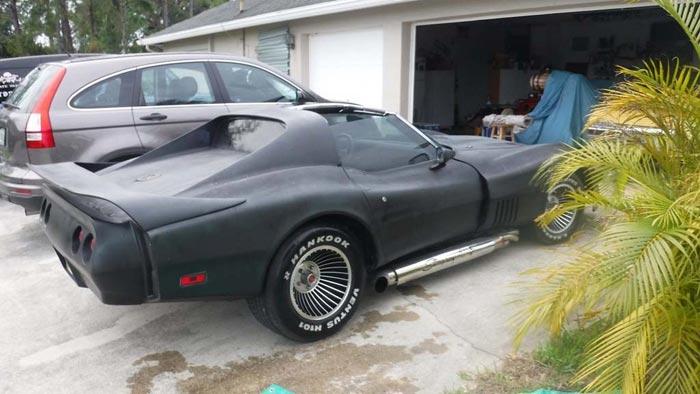 Corvettes on eBay: Plasti-Dipped 1976 Greenwood Turbo GT