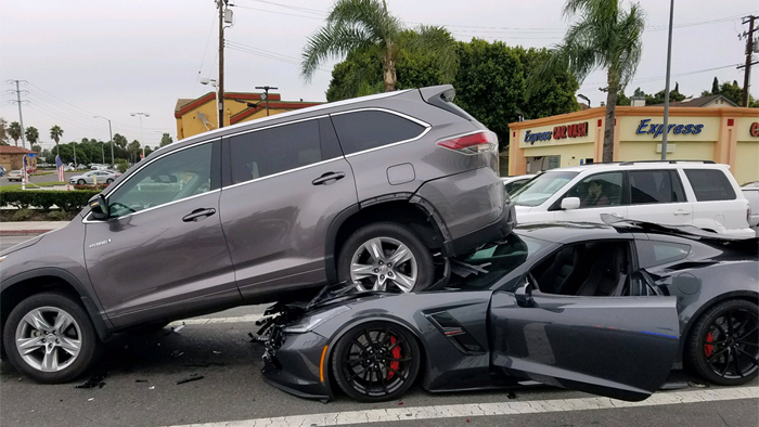 2017 Toyota Highlander Accessories >> [ACCIDENT] Corvette Grand Sport Lifts an SUV in a ...