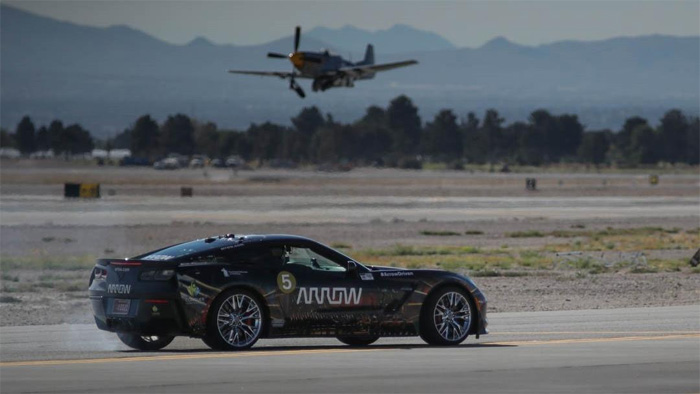 Sam Schmidt Drives his Semi-Autonomous Corvette Z06 to 190 MPH at Nellis Air Force Base