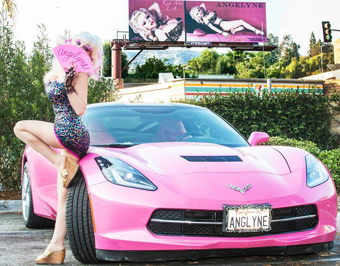 [PICS] Real Deal? Angelyne's Pink C8 Corvette Breaks Cover