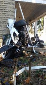 [ACCIDENT] Arctic White Corvette Z06 Crash Lands on West Virginia Front Porch