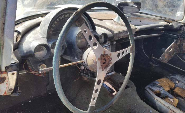 1959 Corvette Found Under the Remains of a Florida Lean-To Shed