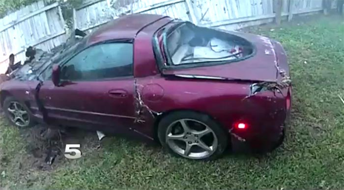 [ACCIDENT] Scary Moment for Sleeping Homeowners as a 50th Anniversary Corvette Crashes Into Their Bedroom
