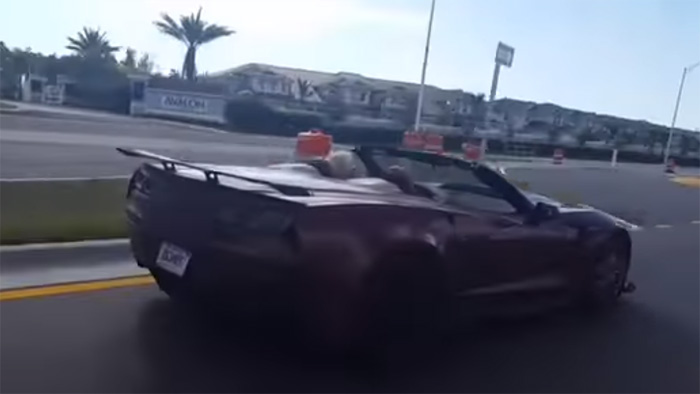 [VIDEO] 2019 Corvette ZR1 Convoy in South Florida Shows One That's Painted in Black Rose Metallic