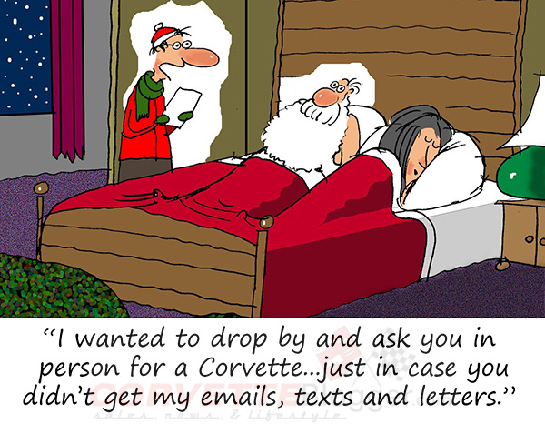 Saturday Morning Corvette Comic: All I Want for Christmas is a Corvette