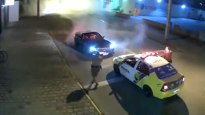 [VIDEO] Corvette Driver Arrested in Brazil After Donut in Street Attracts the Police