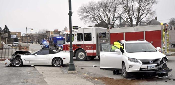 [ACCIDENT] DUI Driver Crashes His C5 Corvette Convertible in Iowa