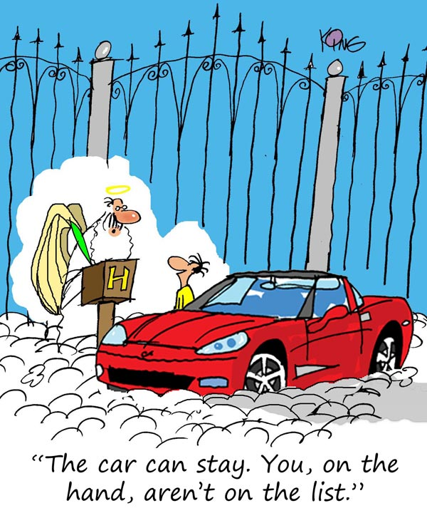 Saturday Morning Corvette Comic: Are You on the List?