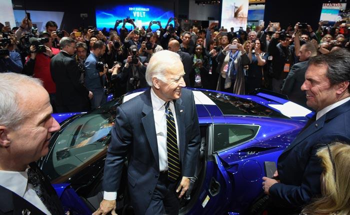 [PICS] Vice President Joe Biden Checks Out the Corvettes at NAIAS 2017