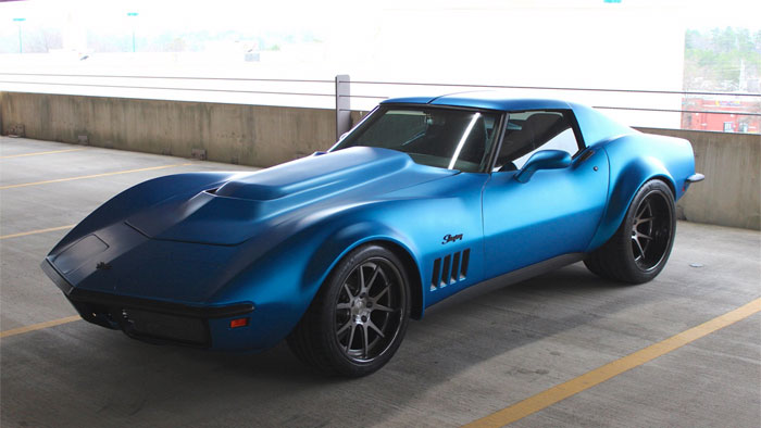 Pics Matte Blue 1969 Corvette Stingray On Forgeline Wheels