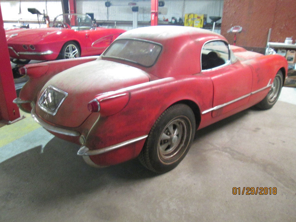 Corvettes On EBay 1954 Corvette Barn Find