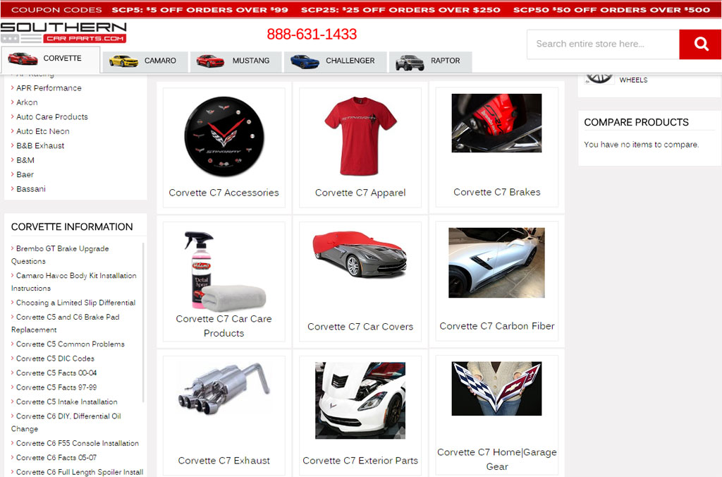 For Corvette Parts Visit Our Friends At Southern Car Parts