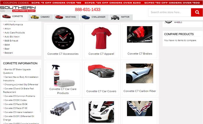 Need Corvette Parts? Visit Our Friends at Southern Car Parts!