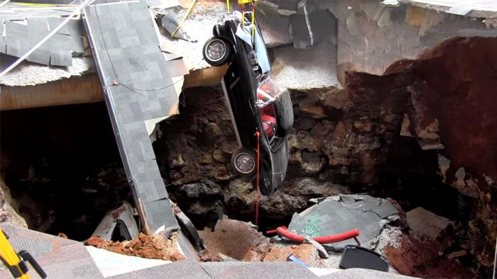 National Corvette Museum Begins Restoration of the 1962 Sinkhole Corvette