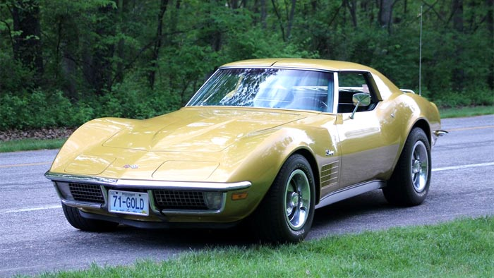 1971 Corvette in War Bonnet Yellow