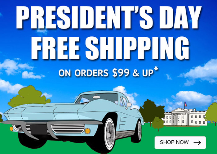 Zip Corvette Offers Free Shipping for President's Day Sale