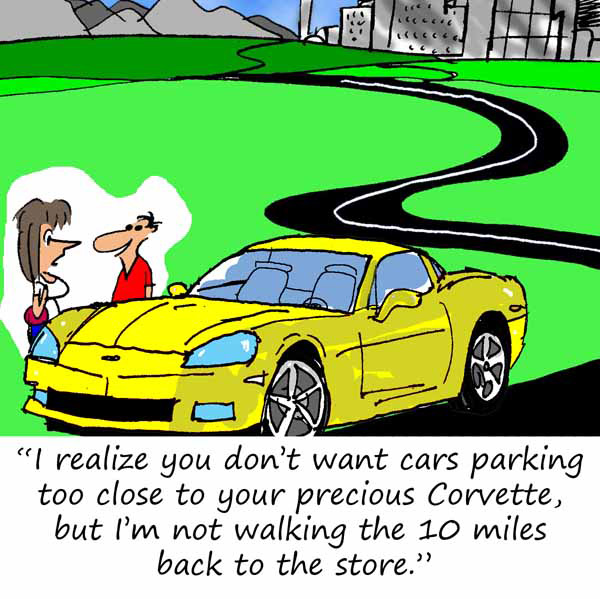 Saturday Morning Corvette Comic: Parkophobia is Real
