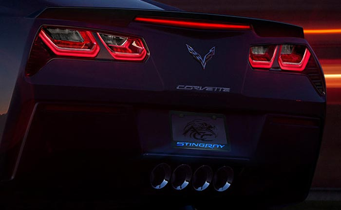 Add Some Bling to your Dream with American Car Craft's Stingray License Plate Frames