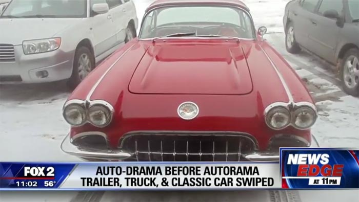 [STOLEN] 1960 Corvette in Detroit for Autorama is Stolen from Hotel Parking Lot