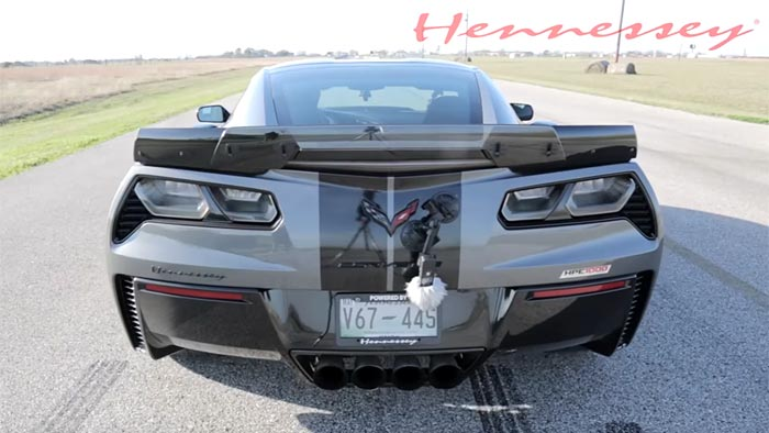 [VIDEO] Hennessey HPE1000 Corvette Z06 Screams on Test Track