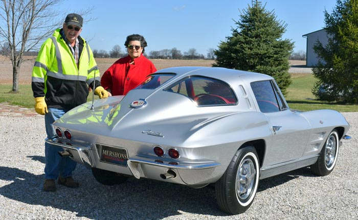 Couple Married Over 51 Years Relive Youth with Substitute 1963 Corvette Split Window