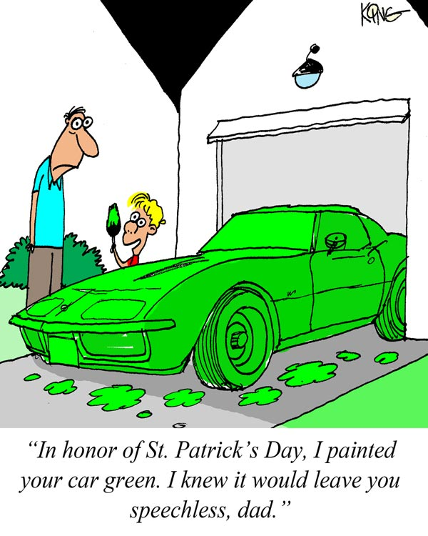 Saturday Morning Corvette Comic: Green With Envy