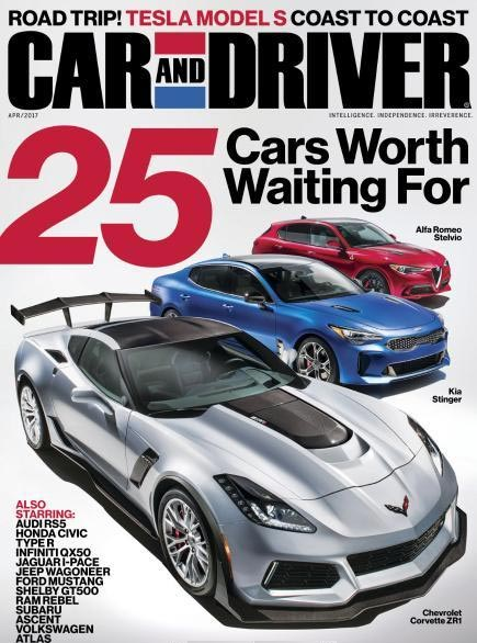 April 2017 Car and Driver Magazine