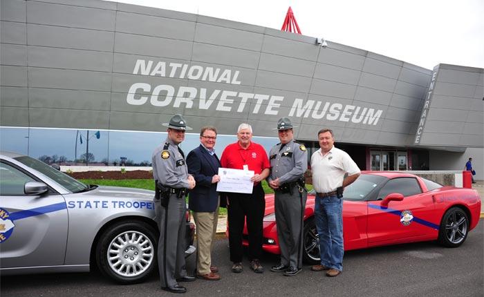 Corvette Enthusiasts Raise $13,500 for KSP Trooper Island Camp
