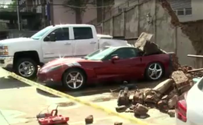 [ACCIDENT] Retaining Wall Gives Way and Crashes on a C6 Corvette in Vicksburg