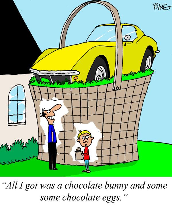Saturday Morning Corvette Comic: Happy Easter!