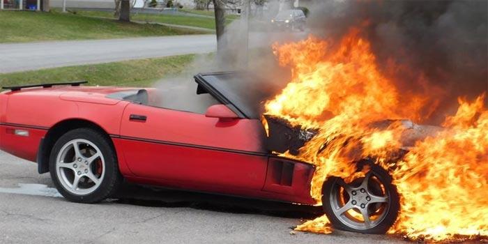 [ACCIDENT] C4 Corvette Catches Fire in Canada