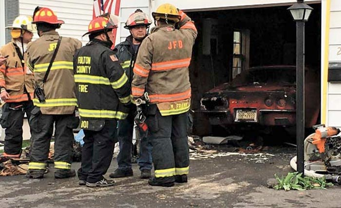 [ACCIDENT] 1973 Corvette Burns in Garage After Remodeling Work Sparks Blaze