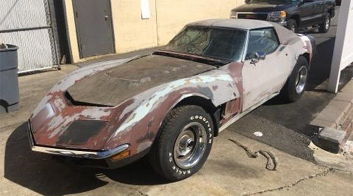 Corvettes On EBay LS5 1970 Corvette Barn Find
