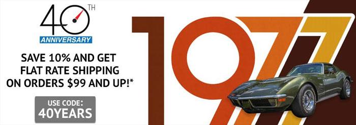 Come Celebrate Zip Corvette's 40th Anniversary on Saturday, May 6th