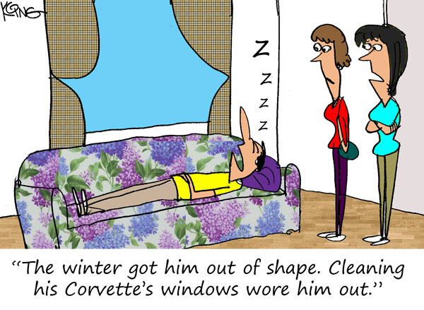 Saturday Morning Corvette Comic: Time for a Workout