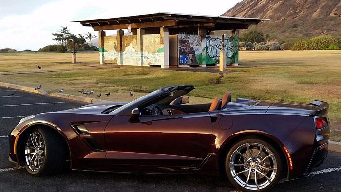 2018 Corvette in Black Rose Metallic