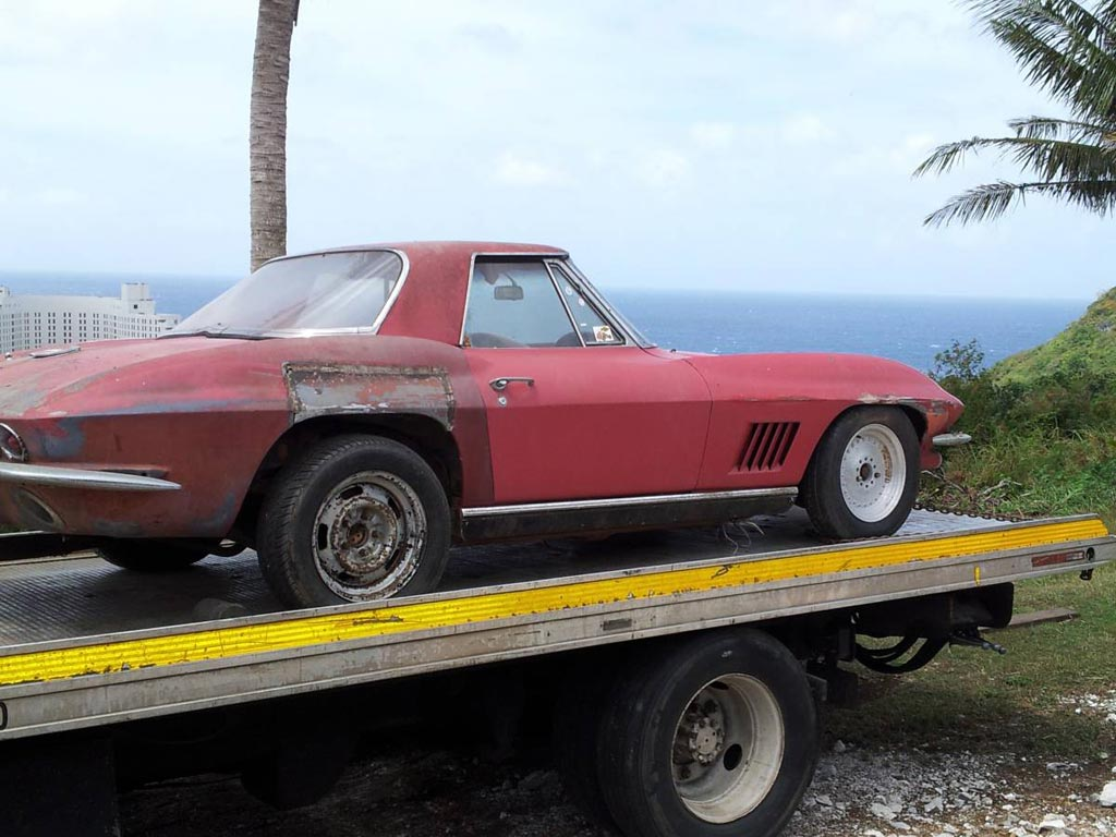 Corvettes On Craigslist Exiled 1967 Corvette On The Island Of Guam Corvette Sales News