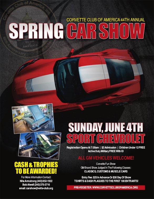 Sport Chevrolet is Hosting the 44th Annual Corvette Club of America Spring Car Show