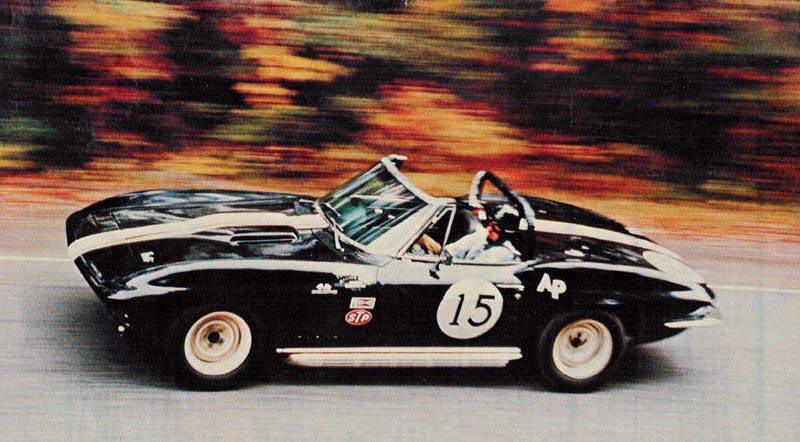 Corvettes on eBay: Historic Triple Black 1966 Corvette Hill Climb