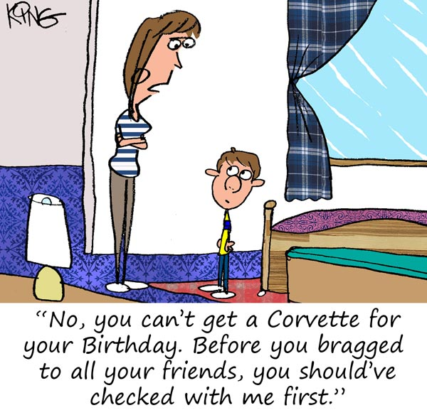 Saturday Morning Corvette Comic: Every Kid Wants a Corvette for their Birthday
