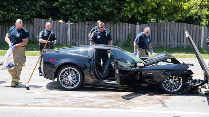 [ACCIDENT] Corvette ZR1 Driver Leads Police on Chase before Crashing into Two Vehicles