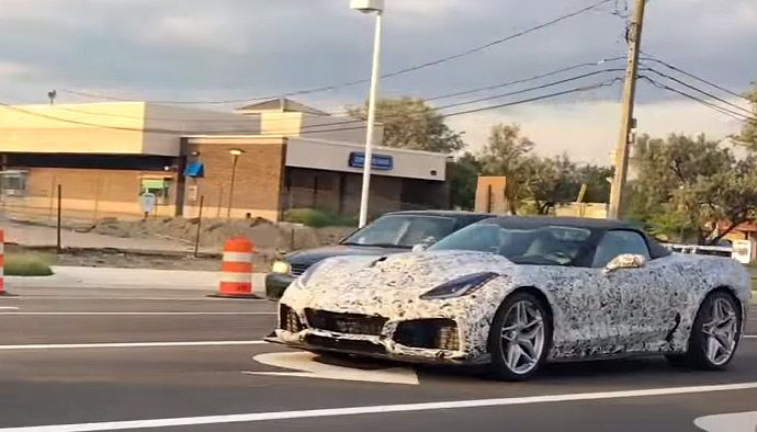 [VIDEO] 2018 Corvette ZR1 Convertible Prototypes Now With Chrome Wheels Spotted in Michigan